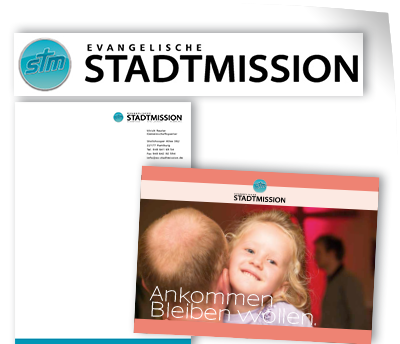 Logo, Brief, Imagebroschüre für Evangelische Stadtmission Hamburg | Corporate Design von Wiegelmedia